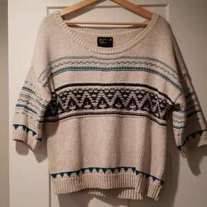 Beigh 3/4 sleeve sweater